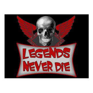 Legends Never Die Biker T shirts Gifts Postcard