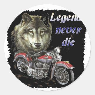 legends never die classic round sticker