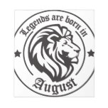 Legends ploughs born in August Notepad