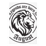Legends ploughs born in August Stationery