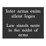 Leges silenciosos del enim inter del arma tarjetas postales