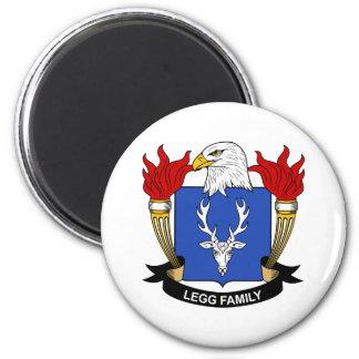 Legg Family Crest 2 Inch Round Magnet