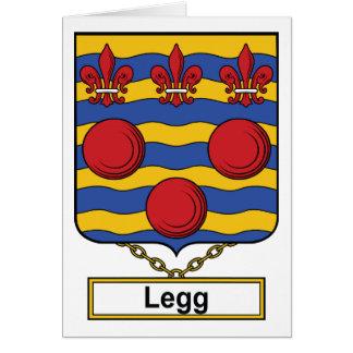Legg Family Crest Card