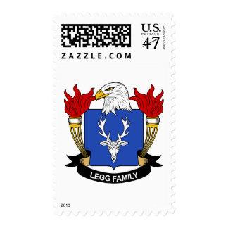 Legg Family Crest Postage Stamp