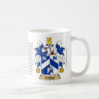 Legg, the Origin, the Meaning and the Crest Coffee Mug