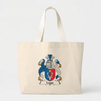 Legge Family Crest Large Tote Bag