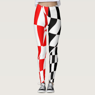 Leggings - All Over - Modified Checkered Flag