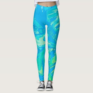 Leggings Blue Wave