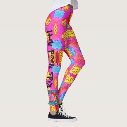 Leggings Kids Need Art Or Name Custom Yoga Pants Zazzle Com