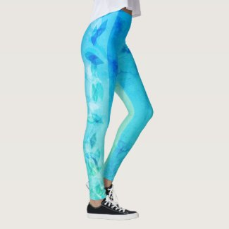 Leggings Ocean Leaves