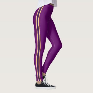 Leggings Purple Striped Full