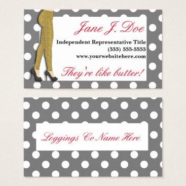 Professional Business Leggings Sales, Leopard Print Business Card