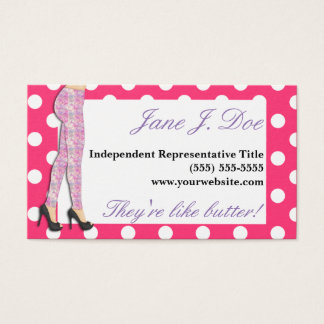Leggings Sales, Pink and Purple Business Card