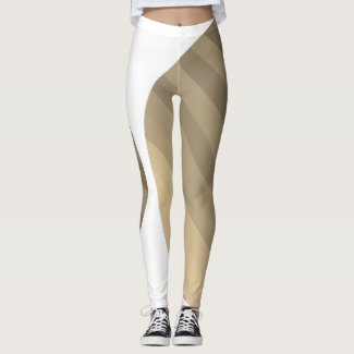 Leggings Striped Sepia