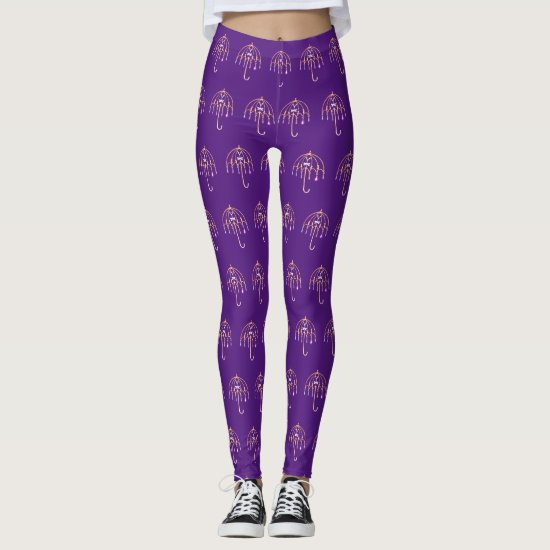 Leggings - Wire Umbrella Pattern