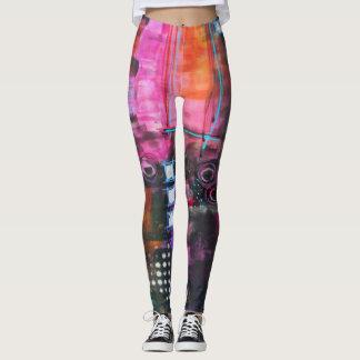 Leggings Yoga Pants Womens - Pink Squares