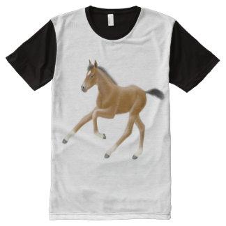 Leggy Bay Thoroughbred Horse Foal Panel Shirt All-Over Print T-shirt