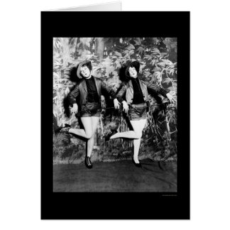 Leggy Dance Number in Uncle Sams Follies 1925 Greeting Card