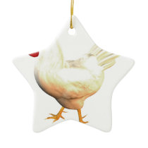Leghorn Rooster Ceramic Ornament