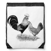 Leghorns Production Brown Chickens Drawstring Bag