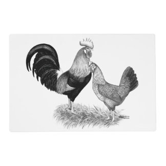 Leghorns Production Brown Chickens Placemat