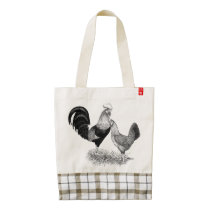 Leghorns Production Brown Chickens Zazzle HEART Tote Bag