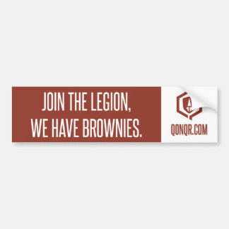 Legion Brownies Bumper Sticker