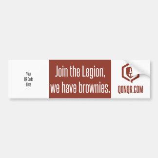 Legion Brownies QR Bumper Sticker