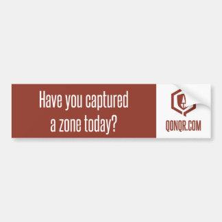 Legion Captured a Zone Car Bumper Sticker
