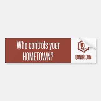 Legion Controls Hometown Car Bumper Sticker