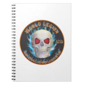 Legión de geólogos malvados cuaderno