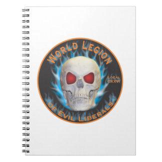 Legión de liberales malvados note book