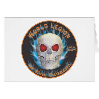 Legión de peluqueros malvados tarjeta de felicitación