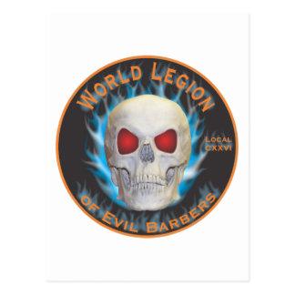 Legión de peluqueros malvados tarjeta postal