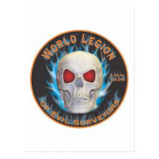 Legión de topógrafos malvados tarjeta postal