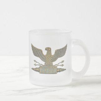 Legion Eagle Copper 10 Oz Frosted Glass Coffee Mug
