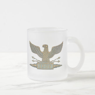 Legion Eagle Copper Frosted Glass Coffee Mug
