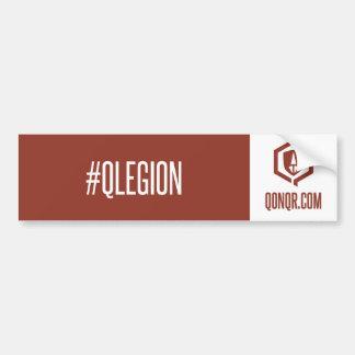 Legion hashtag car bumper sticker