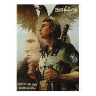 Legion independent Ettore Muti Propaganda Poster Postcard