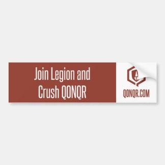 Legion Join and Crush Car Bumper Sticker