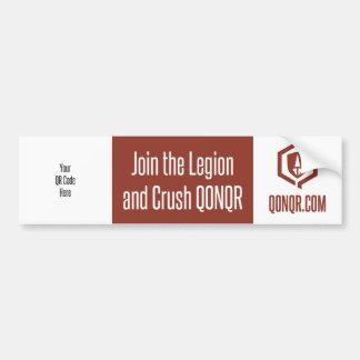 Legion Join Crush QR Car Bumper Sticker