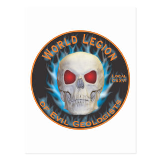 Legion of Evil Geologists Postcard