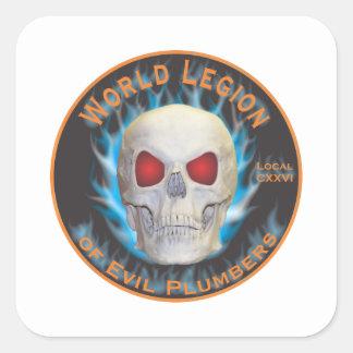 Legion of Evil Plumbers Square Sticker