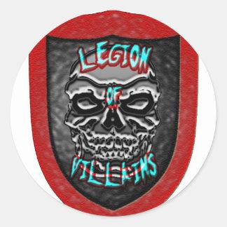 Legion of Villains Classic Round Sticker