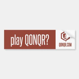 Legion play Qonqr Bumper Sticker