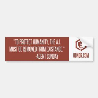 Legion Protect humanity Car Bumper Sticker