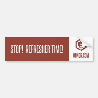 Legion Refresher time Car Bumper Sticker