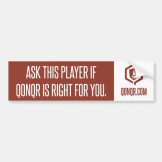 Legion Right for you Car Bumper Sticker