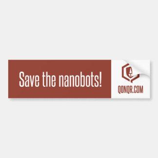 Legion Save Nanobots Bumper Sticker