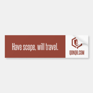 Legion Scope Travel Car Bumper Sticker